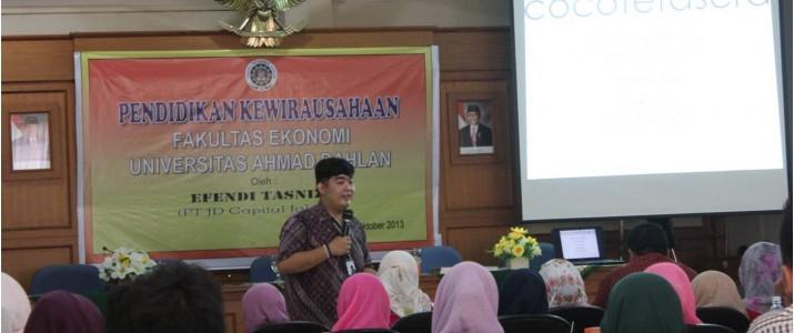 PT JD Capital Jakarta Ajak Mahasiswa FE Bergabung