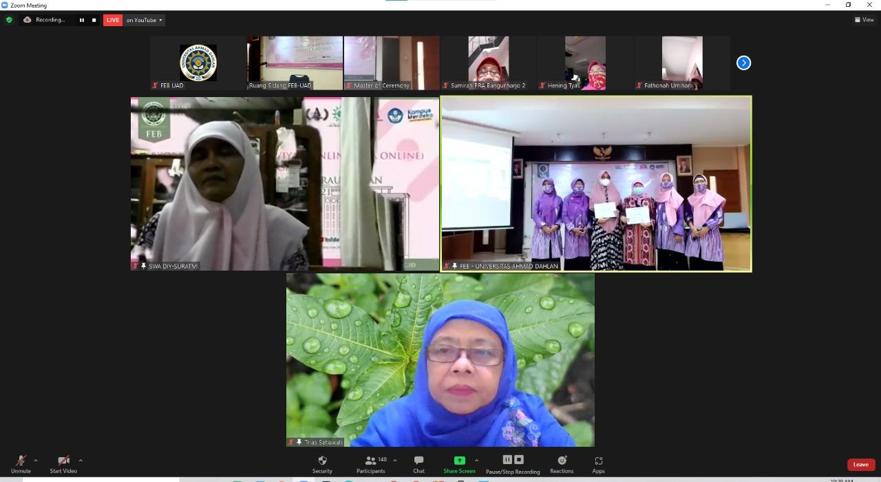 FEB UAD dan MEK (PWA) DIY Gelar Wisuda Online: Sekolah Wirausaha Aisyah